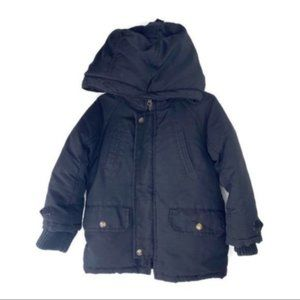 Baby Gap Black Hooded Coat Size 3T